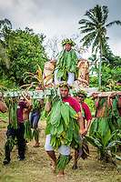 Coronation procession, Makirau Haurua Teurukura Ariki Investiture, Aitutaki Island, Cook Islands.