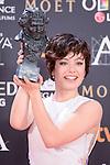 Anna Castillo pose to the media with the Goya award at Madrid Marriott Auditorium Hotel in Madrid, Spain. February 04, 2017. (ALTERPHOTOS/BorjaB.Hojas)