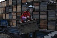 Luoping, Yunnan. The hives are transported on trucks at nightfall.