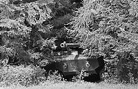 - Franco-German bilateral military exercise in Bavaria, French Army AMX-10RC heavy armoured car, September 1987<br /> <br /> - Esercitazione militare bilaterale franco-tedesca in Baviera, autoblindo pesante AMX-10RC dell'esercito Francese, Settembre 1987