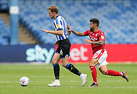 Sheffield Wednesday's Jordan Rhodes under pressure from Nottingham Forest's Tiago Silva<br /> <br /> Photographer Rich Linley/CameraSport<br /> <br /> The EFL Sky Bet Championship - Sheffield Wednesday v Nottingham Forest - Saturday 20th June 2020 - Hillsborough - Sheffield <br /> <br /> World Copyright © 2020 CameraSport. All rights reserved. 43 Linden Ave. Countesthorpe. Leicester. England. LE8 5PG - Tel: +44 (0) 116 277 4147 - admin@camerasport.com - www.camerasport.com