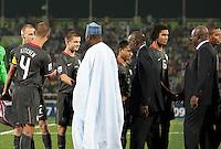 USMNT U17. Spain defeated the U.S. Under-17 Men National Team  2-1 at Sani Abacha Stadium in Kano, Nigeria on October 26, 2009.