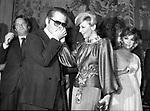 KARL LAGERFELD CON DONATELLA PECCI BLUNT<br /> PREMIO THE BEST A PALAZZO PECCI BLUNT ROMA 1978