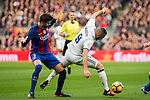 FC Barcelona's Gerard Pique, Real Madrid's Karim Benzema during spanish La Liga match between Futbol Club Barcelona and Real Madrid  at Camp Nou Stadium in Barcelona , Spain. Decembe r03, 2016. (ALTERPHOTOS/Rodrigo Jimenez)