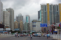 "New property is contructed and advertised for sale in Shenzhen, south China. The property market has boomed in the last few years and has created a property market ""bubble"" that the Government is trying to cool by taxing sales in an attempt to reign in speculators. .01 Jun 2005"