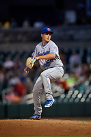Tennessee Smokies starting pitcher Michael Rucker (28) delivers a pitch during a game against the Birmingham Barons on August 16, 2018 at Regions FIeld in Birmingham, Alabama.  Tennessee defeated Birmingham 11-1.  (Mike Janes/Four Seam Images)
