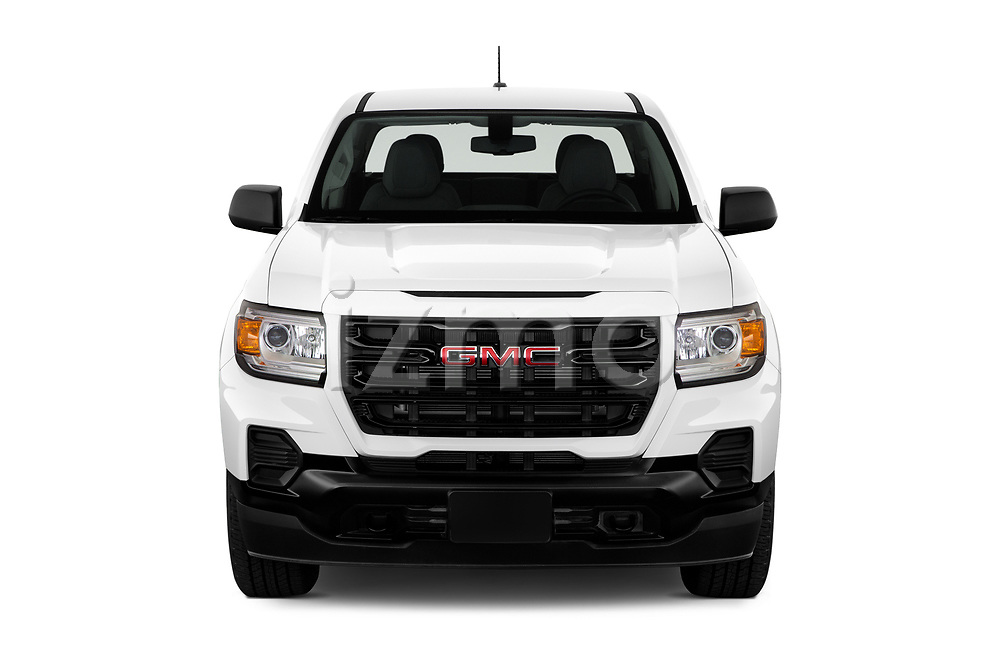 Car photography straight front view of a 2021 GMC Canyon Elevation-Standard 4 Door Pick-up Front View