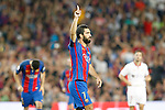 FC Barcelona's Arda Turan celebrates goal during Supercup of Spain 2nd match.August 17,2016. (ALTERPHOTOS/Acero)
