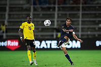 ORLANDO, FL - JULY 20: Bryan Ruiz #10 of Costa Rica kicks the ball during a game between Costa Rica and Jamaica at Exploria Stadium on July 20, 2021 in Orlando, Florida.