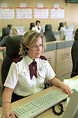 Civilian staff working in the call centre at Lloyd House, West Midlands Police Service HQ.
