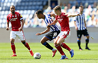 Sheffield Wednesday's Alessio da Cruz under pressure from Nottingham Forest's Ryan Yates <br /> <br /> Photographer Rich Linley/CameraSport<br /> <br /> The EFL Sky Bet Championship - Sheffield Wednesday v Nottingham Forest - Saturday 20th June 2020 - Hillsborough - Sheffield <br /> <br /> World Copyright © 2020 CameraSport. All rights reserved. 43 Linden Ave. Countesthorpe. Leicester. England. LE8 5PG - Tel: +44 (0) 116 277 4147 - admin@camerasport.com - www.camerasport.com