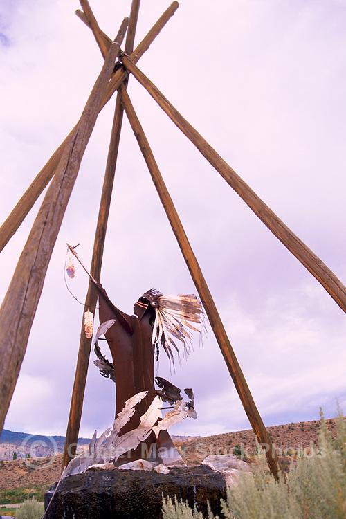 Indian Sculpture at Nk'Mip Cellars Winery, Osoyoos, South Okanagan Valley, BC, British Columbia, Canada