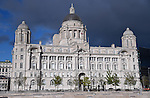 The Port of Liverpool Building. Part of the famous Three Graces. Pier Head Liverpool