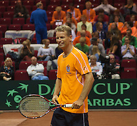 11-sept.-2013,Netherlands, Groningen,  Martini Plaza, Tennis, DavisCup Netherlands-Austria, Open training<br /> Photo: Henk Koster