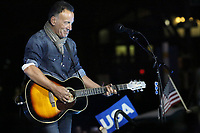 **File Photo** Bruce Springsteen Details Emerge From November DWI Arrest.<br /> <br /> PHILADELPHIA, PA - NOVEMBER 7: Bruce Springsteen at the GOTV Rally in support of Hillary Clinton for President at Independence Mall in Philadelphia, Pennsylvania on November 7, 2016. <br /> CAP/MPI09<br /> ©MPI09/Capital Pictures