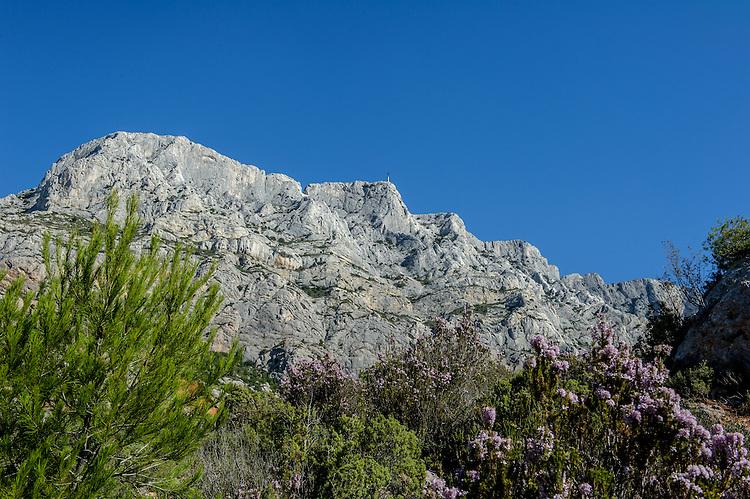 Montagne Sainte-Victoire depuis D17 entre le Tholonet et St-Antonin