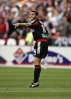 9 April 2005.  DC United's Ben Olsen (14) directs his team at RFK Stadium in Washington, DC.