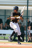 Pittsburgh Pirates outfielder Michael de la cruz (62) during an Instructional League intersquad scrimmage on September 29, 2014 at the Pirate City in Bradenton, Florida.  (Mike Janes/Four Seam Images)