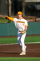 Tennessee Volunteers third baseman Jake Rucker (7) warms up prior to the game against the LSU Tigers on Robert M. Lindsay Field at Lindsey Nelson Stadium on March 26, 2021, in Knoxville, Tennessee. (Danny Parker/Four Seam Images)