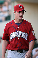 July 1st 2008:  Casey Smith of the Lehigh Valley IronPigs, Class-AAA affiliate of the Philadelphia Phillies, during a game at Frontier Field in Rochester, NY.  Photo by:  Mike Janes/Four Seam Images