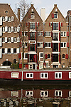 The canal houses and boats of the Brouwersgracht in Amsterdam.
