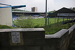 FC Halifax Town 1 Mickleover Sports 1, 23/04/2011. The Shay, Northern Premier League. A view of the action at The Shay, home of FC Halifax Town (in blue), on the day that they were presented with the Northern Premier League Premier Division championship trophy following their match with Mickleover Sports, which ended in a 1-1 draw in front of a crowd of 2,404. The club replaced Halifax Town A.F.C. who went into administration during the 2007–08 season, having previously been members of the Football League for 80 years. Their promotion meant they would play in Conference North in the 2011-12 season. Photo by Colin McPherson.