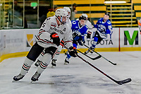 29 December 2018: Northeastern University Huskies Defenseman Ryan Shea, a Junior from Milton, MA, in first period action against the University of Alabama Huntsville Chargers at Gutterson Fieldhouse in Burlington, Vermont. The Huskies shut out the Chargers 2-0 in the Catamount Cup tournament at the University of Vermont. Mandatory Credit: Ed Wolfstein Photo *** RAW (NEF) Image File Available ***
