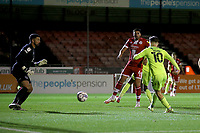 Dan Kemp of Leyton Orient scores the fourth goal for his team during Crawley Town vs Leyton Orient, Papa John's Trophy Football at The People's Pension Stadium on 5th October 2021