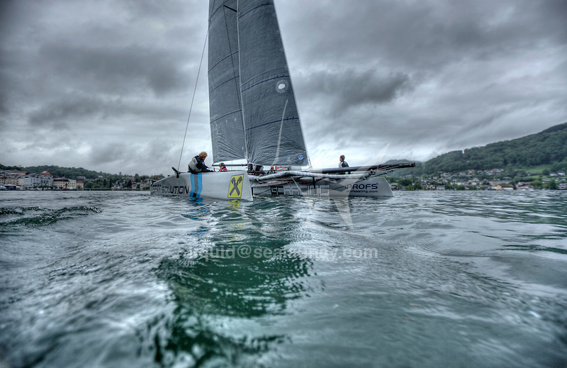 The GC32 is the one design for the future Great Cup Racing circuit, Austria Cup, Lake Traunsee, Gmunden, Austria. Day3.