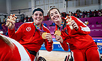 Lima, Peru -  30/August/2019 - Canada takes the gold medal in women's wheelchair basketball at the Parapan Am Games in Lima, Peru. Photo: Dave Holland/Canadian Paralympic Committee.