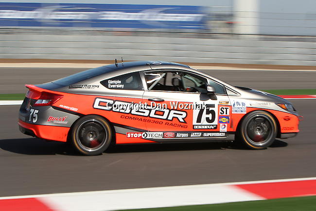 Kyle Gimple (75) in action during the Continental Tire Challenge race at the Circuit of the Americas race track in Austin,Texas...