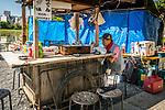Food Stall during markets held at Ueno Park, Shinobazunoike Bentendo, Tokyo, Japan