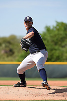 Pitcher Tim Giel (45) of the New York Yankees organization during a minor league spring training game against the Pittsburgh Pirates on March 22, 2014 at Pirate City in Bradenton, Florida.  (Mike Janes/Four Seam Images)