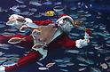 Santa Claus diver at Sunshine Aquarium