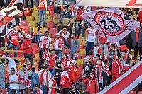 BOGOTA - COLOMBIA, 17-10-2021: Independiente Santa Fe y Millonarios F.C. en partido por la fecha 14 de la Liga BetPlay DIMAYOR II 2021 jugado en el estadio Nemesio Camacho El Campin de la ciudad de Bogotá. / Independiente Santa Fe and Millonarios F.C. in match for the date 14 of the BetPlay DIMAYOR League II 2021 played at the Nemesio Camacho El Campin Stadium in Bogota city. Photo: VizzorImage / Edgar Cusguen / Cont