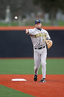 April 11, 2008:  University of Michigan Wolverines starting infielder Leif Mahler(17) against the University of Illinois Fighting Illini at Illinois Field in Champaign, IL.  Photo by:  Chris Proctor/Four Seam Images