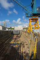 France, Bretagne, (29), Finistère, Brest:   Base Navale et Arsenal de Brest, le Bassin N°:1 ou  bassin Tourville