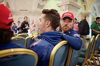 Luca Paolini (ITA/Katusha) checking in <br /> <br /> Giro d'Italia 2014<br /> Opening Ceremony