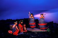 Hula in honor of Pele near Kilauea volcano, Big Island