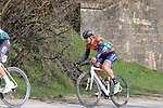 The peloton including Marco Canola (ITA) Nippo-Vini Fantini-EUR.OV. on sector 5 Lucignano d'Asso during Strade Bianche 2019 running 184km from Siena to Siena, held over the white gravel roads of Tuscany, Italy. 9th March 2019.<br /> Picture: Seamus Yore   Cyclefile<br /> <br /> <br /> All photos usage must carry mandatory copyright credit (© Cyclefile   Seamus Yore)