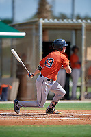 GCL Astros James Nix (59) bats during a Gulf Coast League game against the GCL Marlins on August 8, 2019 at the Roger Dean Chevrolet Stadium Complex in Jupiter, Florida.  GCL Astros defeated GCL Marlins 4-2.  (Mike Janes/Four Seam Images)