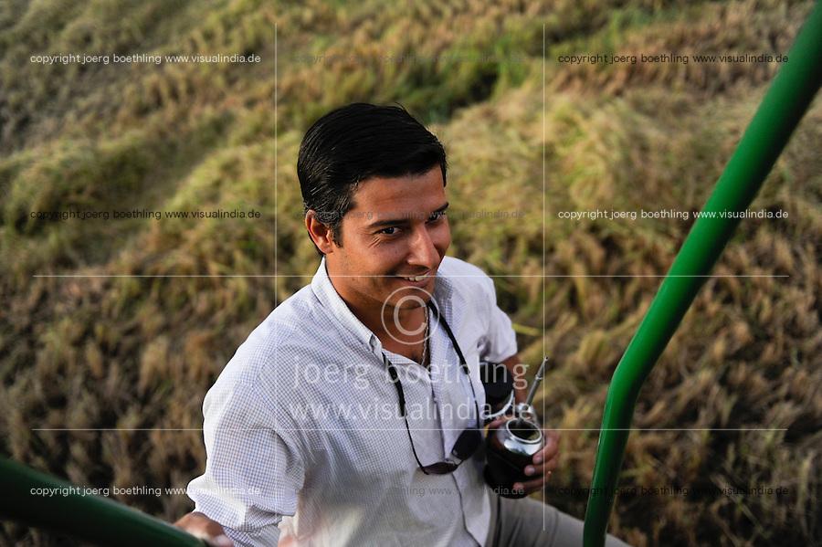 URUGUAY Bella Union, man drinks Mate tea