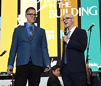 """NEW YORK CITY - AUG 24: Executive Producers John Hoffman (L) and Jess Rosenthal attend the screening of Hulu's """"Only Murders in the Building"""" at The Greens at Pier 17 on August 24, 2021 in New York City. (Photo by Frank Micelotta/Hulu/PictureGroup)"""