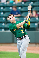 Matt Lipka (2) of the Lynchburg Hillcats takes some practice swings prior to the game against the Winston-Salem Dash at BB&T Ballpark on August 5, 2013 in Winston-Salem, North Carolina.  The Dash defeated the Hillcats 5-0.  (Brian Westerholt/Four Seam Images)
