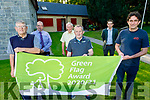 Listowel received the Green Flag award in the town park on Friday.  Front l to r: Jerry Brick, Pat Tarrant (Community Centre) and Jimmy Moloney (Tidy Towns). <br /> Back l to r: John Kennelly (KCC), Peter McGrath (Pitch and Putt) and Declan O'Mahoney (KCC).