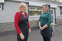 STORY BY KARL WEST<br /> Pictured L-R: Cafe owner Mandy James and colleague Beverley Rayne opposite The ASDA store in Ystalyfera, south Wales, which has been built on land owned by a Council in England. Wednesday 23 January 2019