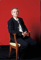 Daniele Del Giudice, scrittore,  giornalista, romanziere italiano. Libri, cultura italiano. Modena 21 settembre 2004. Photo byLeonardo Cendamo/Gettyimages