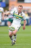 Paul Diggin of Northampton Saints chases down a loose ball during the LV= Cup Final match between Leicester Tigers and Northampton Saints at Sixways Stadium, Worcester on Sunday 18 March 2012 (Photo by Rob Munro, Fotosports International)