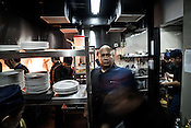 Chef Tatung Sarthou poses for a portrait in the kitchen of his restaurant, Alab in Quezon City in Manila in the Philippines. Photograph: Sanjit Das/Panos for Greenpeace