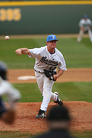 February 21 2009: Gerrit Cole of the UCLA Bruins pitches at Jackie Robinson Stadium in Los Angeles,CA.  Photo by Larry Goren/Four Seam Images